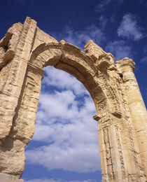 Low angle view of a triumphal arch, Palmyra, Syria by Panoramic Images