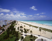 USA, Florida, Miami, Ocean Drive and South Beach of Miami by Panoramic Images