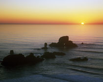 Sunset Over Sea Lion Rock von Panoramic Images