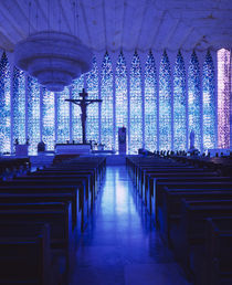 Interiors of a church, Dom Bosco Sanctuary, Brasilia, Brazil von Panoramic Images