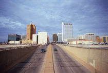 Cars on a highway, Midland, Midland County, Texas, USA by Panoramic Images