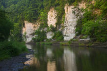 Limestone bluffs along Upper Iowa River, Iowa, USA. von Panoramic Images