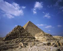 Ruins of pyramids, Giza Necropolis, Giza Plateau, Giza, Egypt von Panoramic Images