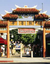 Entrance of a market, Chinatown, City of Los Angeles, California, USA von Panoramic Images
