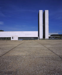 Low angle view of a building, National Congress Building, Brasilia, Brazil by Panoramic Images