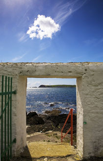 Doorway near Ballynacourty Lighthouse by Panoramic Images