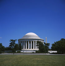 Facade of a building, Jefferson Memorial, Washington DC, USA von Panoramic Images