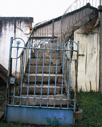 Iron gate of a staircase by Panoramic Images
