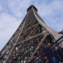 Low angle view of a tower, Eiffel Tower, Paris, France von Panoramic Images