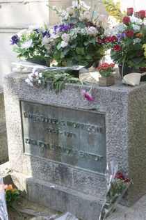 Grave of Jim Morrison, Pere-Lachaise Cemetery, Paris, France von Panoramic Images