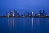 City at the waterfront viewed from Coronado, San Diego, California, USA by Panoramic Images