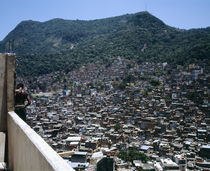 High angle view of a city, Favela, Rio De Janeiro, Brazil by Panoramic Images