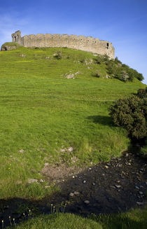 The Ruined walls of Roche Castle, County Louth, Ireland by Panoramic Images