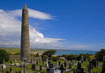 Round Tower in St Declan's 5th Century Monastic Site by Panoramic Images