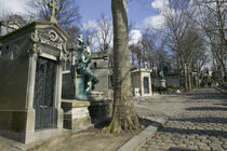 Monuments in a cemetery by Panoramic Images
