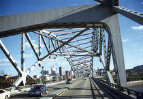 Traffic on a bridge, U.S. Route 169, Missouri River, Kansas City, Missouri, USA by Panoramic Images