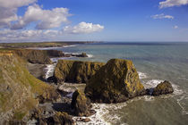 Coastal View to Bunmahon, (from west), Copper Coast, County Waterford, Ireland von Panoramic Images