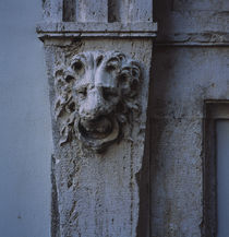 Close-up of a lion face carved on a wall, Rome, Italy by Panoramic Images