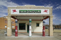 Facade of a gas station, Shamrock, Texas, USA by Panoramic Images