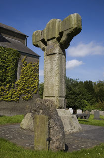High Cross in St Columba's Church, Ceanannas Mor (Kells), County Meath, Ireland von Panoramic Images