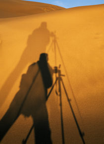 Photographer's Shadow On Sand Dunes von Panoramic Images
