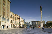Tourists at a town square, Piazza San Oronzo, Lecce, Apulia, Italy by Panoramic Images