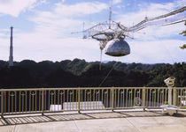 Low angle view of a radio telescope by Panoramic Images
