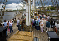 "Tourists on The Famine Ship ""Dunbrody"", Newross, County Wexford, Ireland by Panoramic Images"