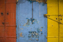Detail of a weathered wall in a flower market, Port Louis, Mauritius von Panoramic Images