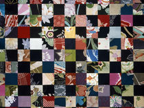 Quilt of black and multicolored horizontals by Panoramic Images