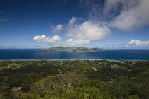 Island view of La Passe from Nid d' Aigle Peak, La Digue Island, Seychelles von Panoramic Images