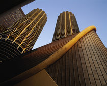 Low angle view of buildings, Marina Towers, Chicago, Illinois, USA by Panoramic Images