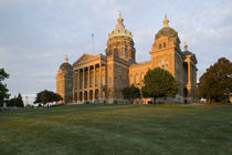 Low angle view of a building, Iowa State Capitol, Des Moines, Iowa, USA by Panoramic Images