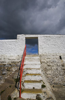 Steps near Ballynacourty Lighthouse, County Waterford, Ireland von Panoramic Images