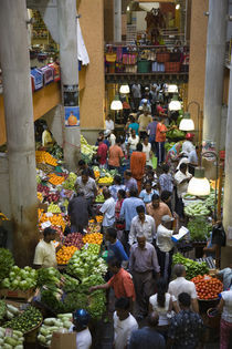 People shopping in a vegetable market, Central Market, Port Louis, Mauritius by Panoramic Images