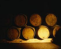 Barrels in a cellar, Chateau Pavie, St. Emilion, Bordeaux, France von Panoramic Images