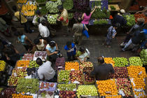 People shopping in a vegetable market, Central Market, Port Louis, Mauritius von Panoramic Images