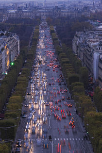 High angle view of traffic on the road by Panoramic Images