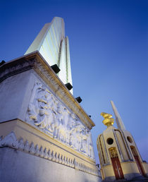 Low angle view of the Democracy Monument, Bangkok, Thailand by Panoramic Images