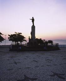 Silhouette of statues at dusk, Salvador, Brazil by Panoramic Images