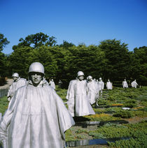 Statues in a park, Korean War Memorial, Washington DC, USA by Panoramic Images