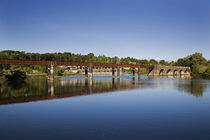 The Blackwater River and old Railway Bridge von Panoramic Images