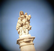 Statue of St. Anne with Virgin Mary and baby Jesus by Panoramic Images