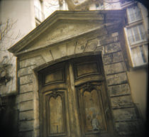 Low angle view of a closed door, France by Panoramic Images