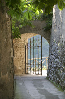 Gate of a villa, Ravello, Salerno, Campania, Italy von Panoramic Images