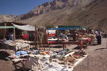Tourist in a flea market, Puente Del Inca, Mendoza Province, Argentina von Panoramic Images