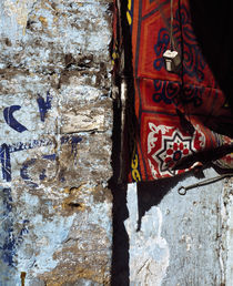 Close-up of a cloth hanging on a wall, Egypt von Panoramic Images