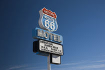 Low angle view of a motel sign, Route 66, Seligman, Yavapai County, Arizona, USA by Panoramic Images