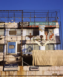 Scaffoldings on a building, Syria by Panoramic Images