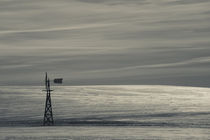 Windmill in a snow covered landscape von Panoramic Images